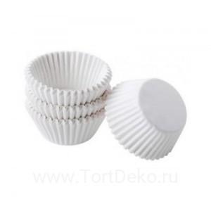 Тарталетки круг 2 (белая),  25*16 мм, (100 шт)
