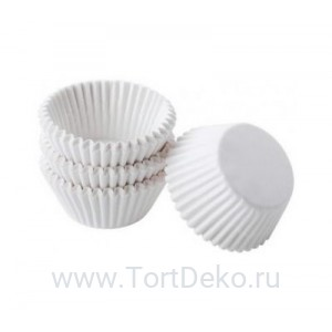Тарталетки круг 3С (белая),  30*18 мм, (100 шт)