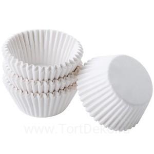 Тарталетки круг 7 (белая), 50*25 мм (100 шт)