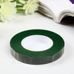 """Тейп-лента """"Тёмно-зелёная"""", намотка 27,3 метра, ширина 12 мм"""