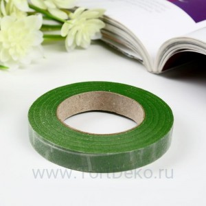 """Тейп-лента """"Зелёная"""", намотка 27,3 метра, ширина 12 мм"""