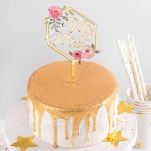 """Топпер на торт """"Молодожены 15х9,5 см"""