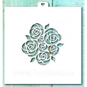 Трафарет «Букет роз»
