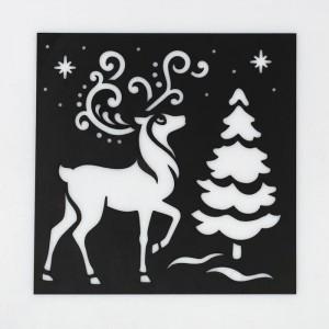 Трафарет для творчества «Северный олень», 15 × 15 см
