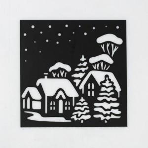 Трафарет для творчества «Зимний городок», 15 × 15 см