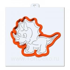 Трафарет + форма «Динозавр. Трицератопс»