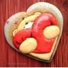 """Трафарет + форма """"Влюбленный мишка Тедди"""""""