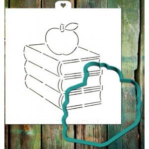 Трафарет + форма «Стопка книг»