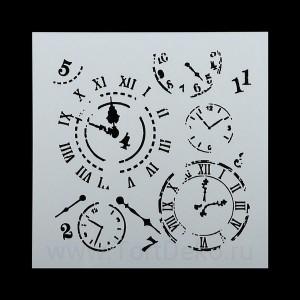 "Трафарет ""Часовые механизмы"" 15х15 см"