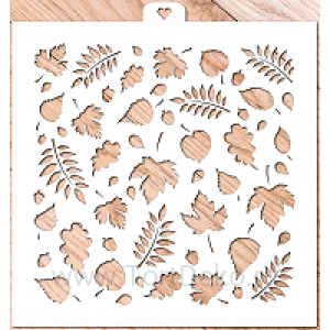 """Трафарет """"Осенние листья 1"""""""