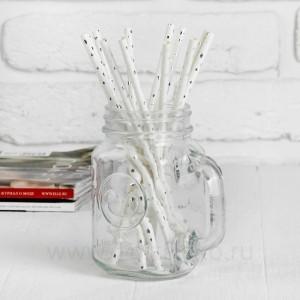 """Трубочка для коктейля """"Звездочки"""" набор 12 штук, цвет серебро"""
