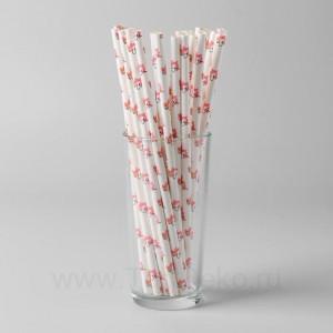 Трубочки для коктейля «Единорожки», набор 25 шт.