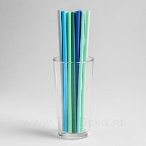 "Трубочки для коктейля ""Морской"" набор 12 шт, цвет МИКС"