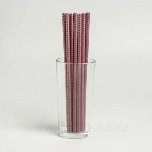 """Трубочки для коктейля """"Зигзаг"""" набор 12 шт, цвет кофе"""