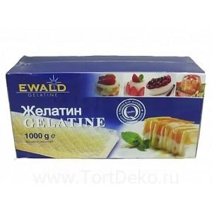 """Желатин листовой """"Ewald-Gelatin"""", 1 кг (Германия)"""
